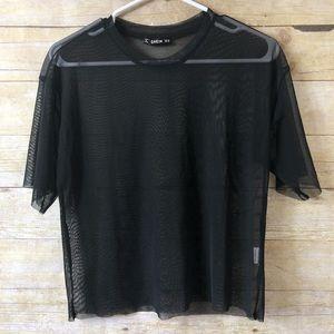 SHEIN black sheer top